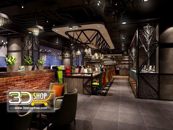 108-Interior Scenes-Cafes & Restaurants-Industrial style