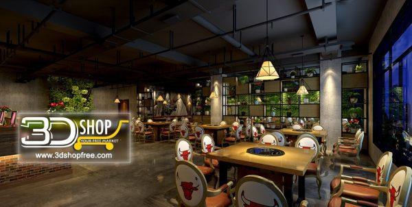 110-Interior Scenes-Cafes & Restaurants-Industrial style