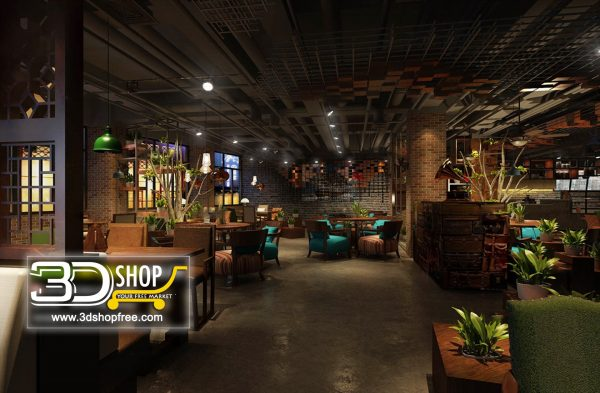 112-Interior Scenes-Cafes & Restaurants-Industrial style