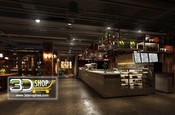Cafes & Restaurants Interior Scenes – Industrial Style 113