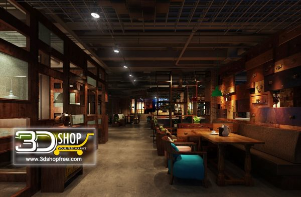 114-Interior Scenes-Cafes & Restaurants-Industrial style