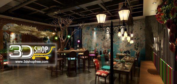 116-Interior Scenes-Cafes & Restaurants-Industrial style