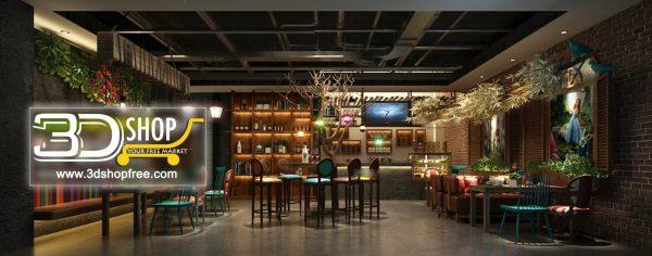 117-Interior Scenes-Cafes & Restaurants-Industrial style