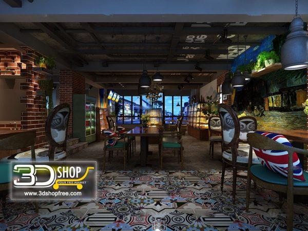 118-Interior Scenes-Cafes & Restaurants-Industrial style