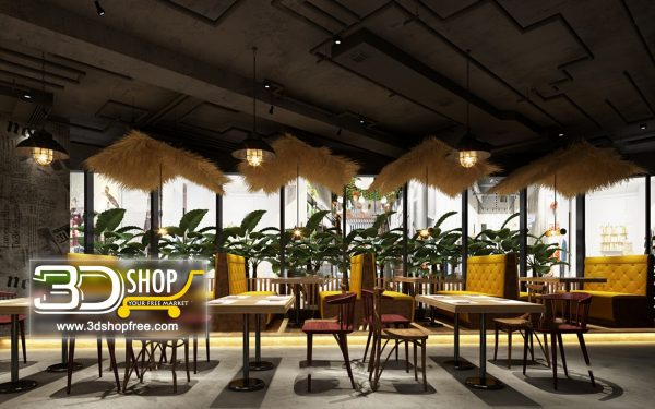 120-Interior Scenes-Cafes & Restaurants-Industrial style