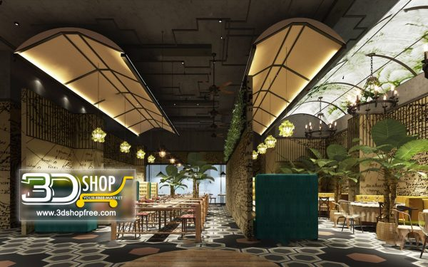 122-Interior Scenes-Cafes & Restaurants-Industrial style