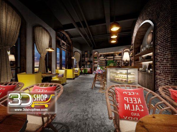 123-Interior Scenes-Cafes & Restaurants-Industrial style