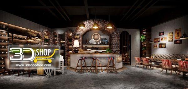 124-Interior Scenes-Cafes & Restaurants-Industrial style