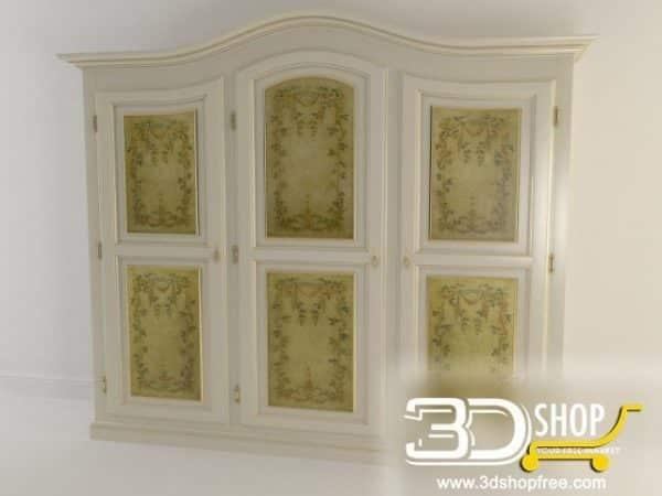 131-3d Models-Classic-Wardrobe  & Display Cabinets