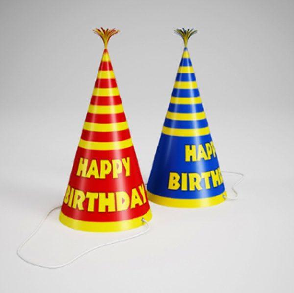 Party Supplies Hat 3d Model 001