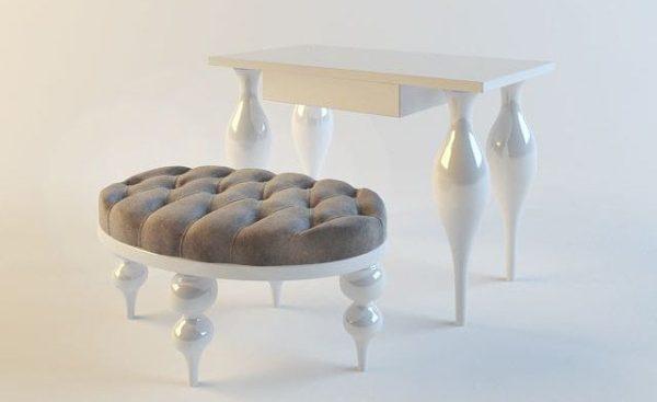 Dressing table 3d Model 001