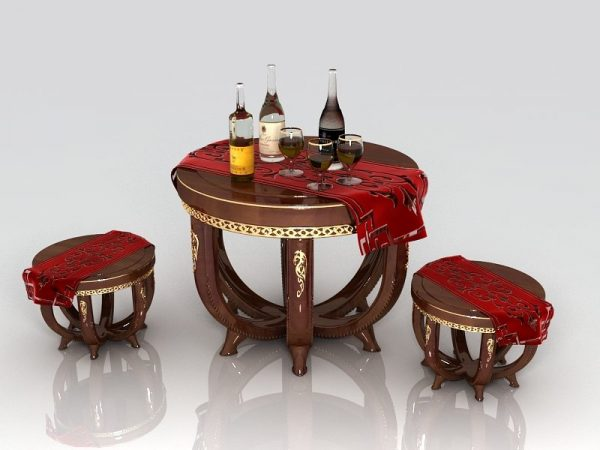 002-3d Models-Tables & Chairs