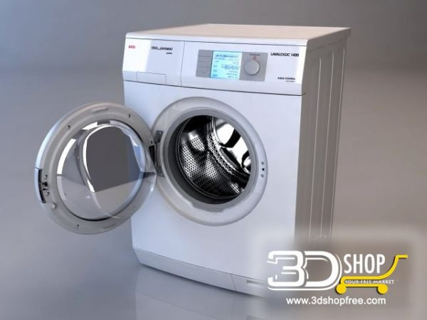 002-3d Models-Technology-Household Appliance-Washing Machine