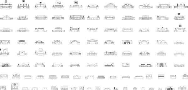 002-Furniture-Cad-Blocks-Beds-Front-Elevation