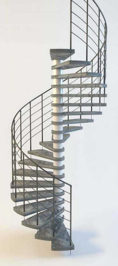 003-3d Models-Staircase-Spiral Stairs