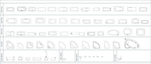 003-Bathroom-Cad-Blocks-Baths