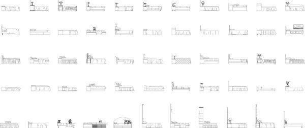 003-Furniture-Cad-Blocks-Beds-Side Elevation
