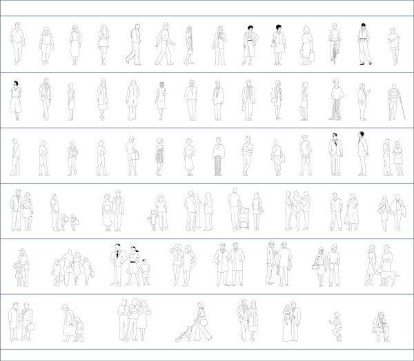 003-People-Cad-Blocks-Elevation