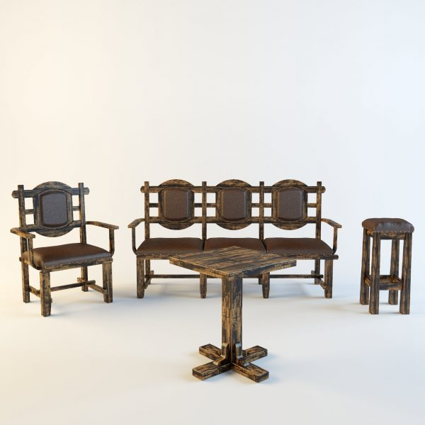 004-3d Models-Tables & Chairs