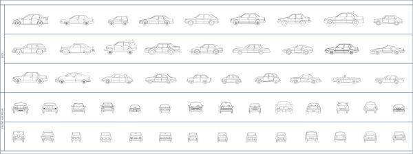 004-Vehicles-Cad-Blocks-Cars-Elevation