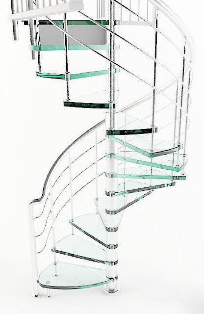 005-3d Models-Staircase-Curved Stairs