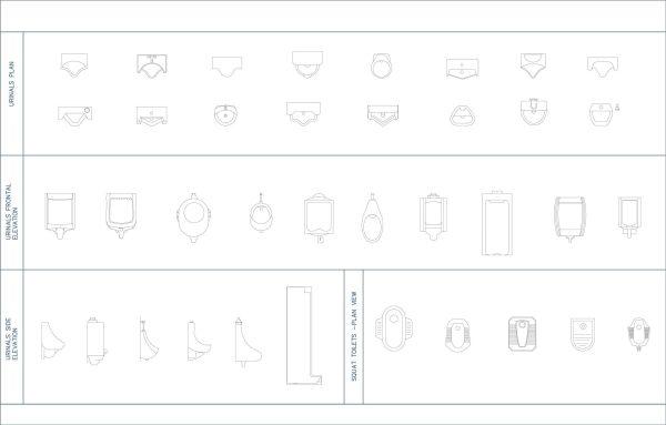 005-Bathroom-Cad-Blocks-Urinals