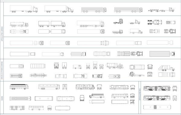 005-Vehicles-Cad-Blocks-Lorries & Buses