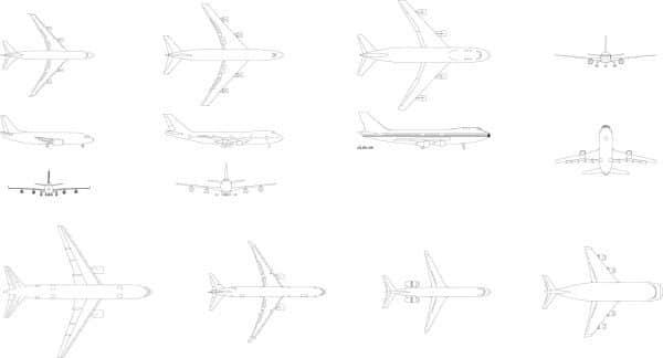 006-Vehicles-Cad-Blocks-Commercial-Aeroplanes