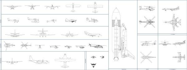 007-Vehicles-Cad-Blocks-Others-Aeroplanes