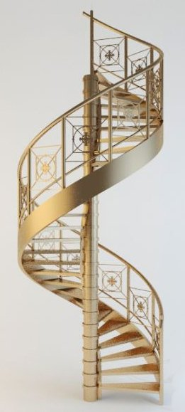 009-3d Models-Staircase-Spiral Stairs