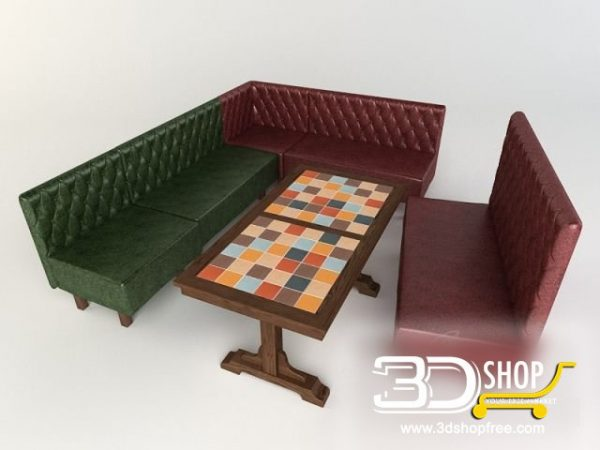 009-3d Models-Tables & Chairs