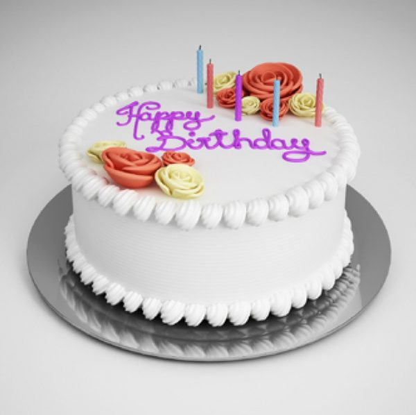 Party Supplies Birthday Cake 3d Model  010