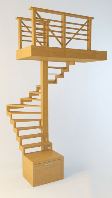 010-3d Models-Staircase