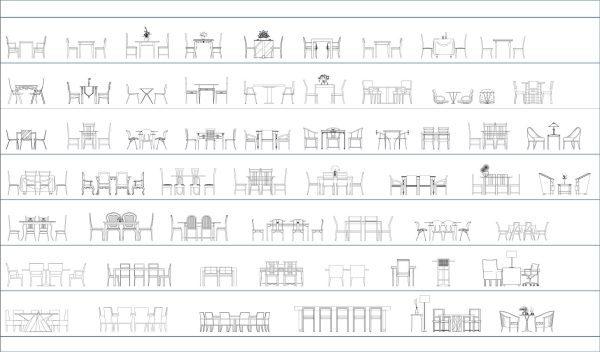011-Furniture-Cad-Blocks-Tables-Elevation