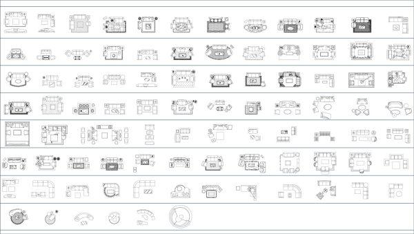 013-Furniture-Cad-Blocks-Sofa-Armchairs-Plan