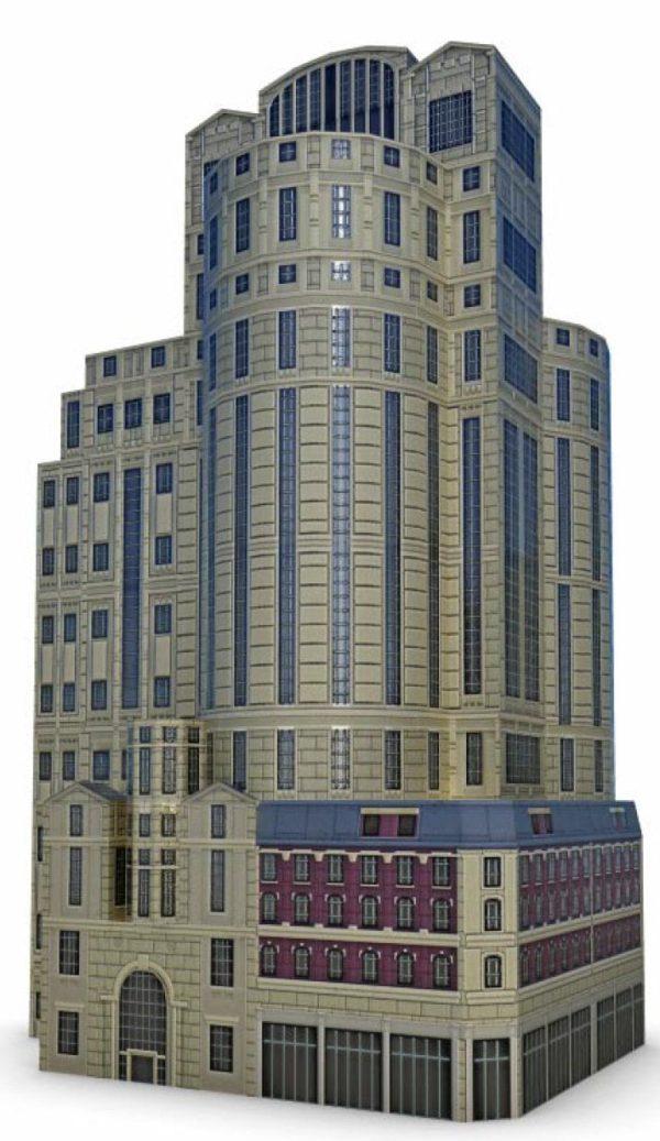 021-3d Models-Buildings & Villas-Tower