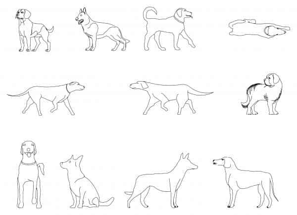 002-Dogs-Cad-Blocks