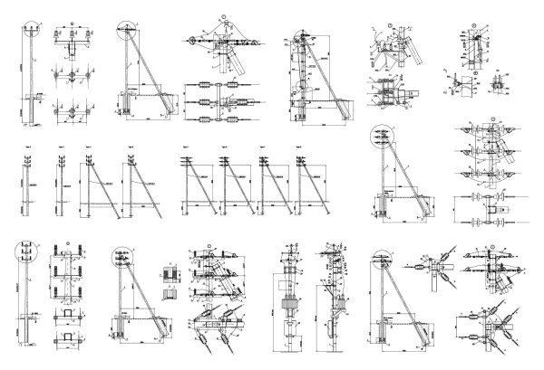 002-Power-Line-Support-Cad-Blocks