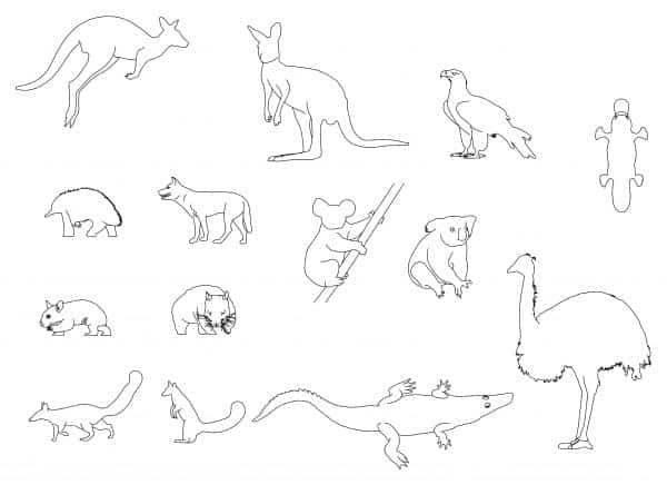 005-Australian_Animals-Cad-Blocks