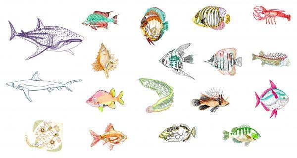 006-Sea_Fish-Cad-Blocks