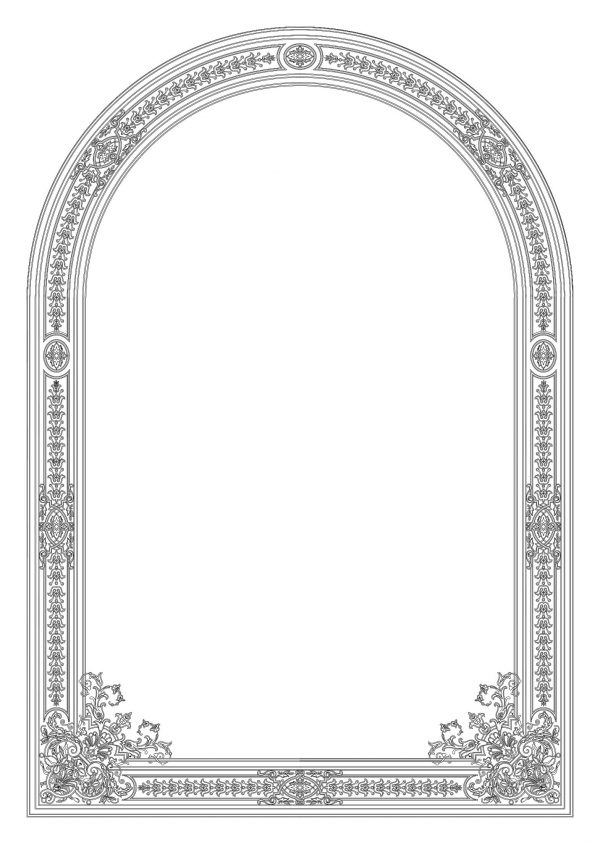 007-Ornamental-Frame-Cad-Blocks