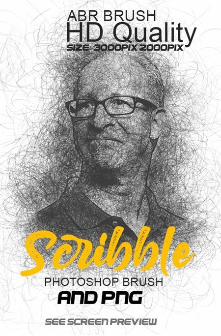 007-Scribble Photoshop Brushes 25748103