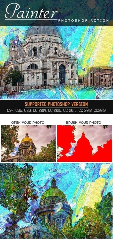 010 Painter Photoshop Action 25779833