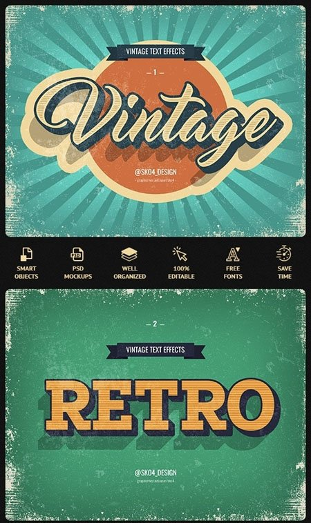 011-Vintage Text Effects 22697709