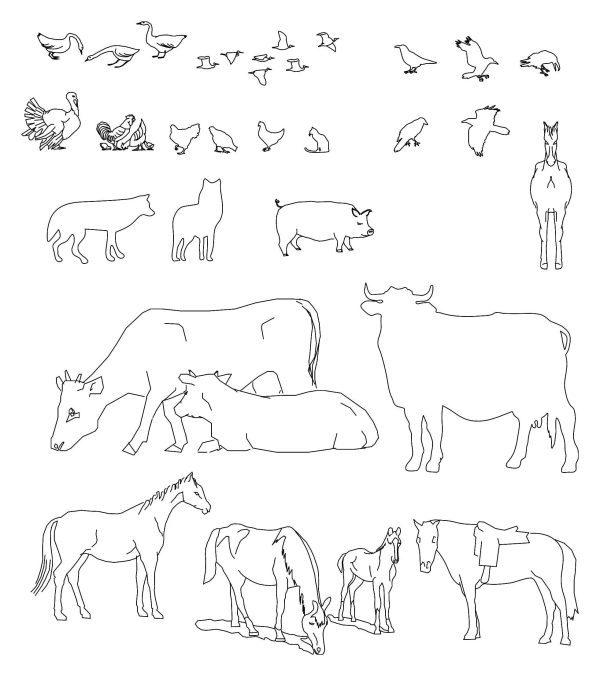 013-Animals_2-Cad-Blocks