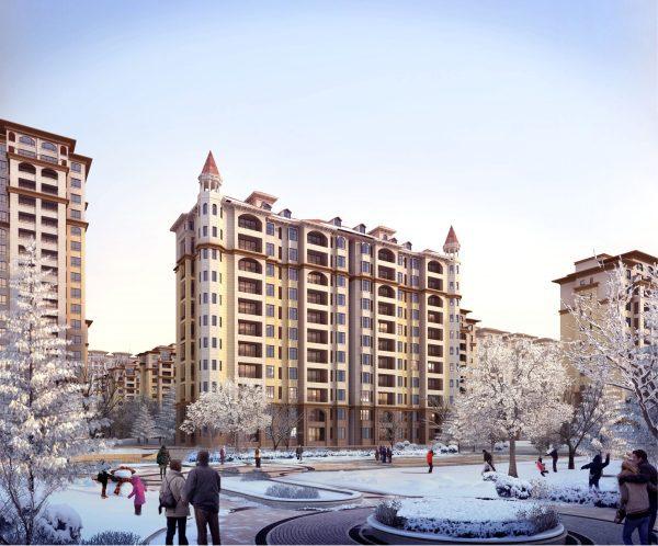 013-Exterior Scenes-Mid-Rise Buildings-Compound Units