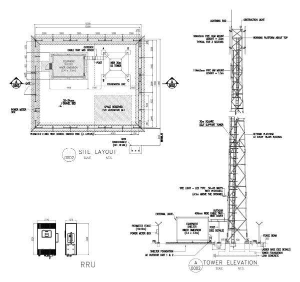 013-Telecommunication_Tower-Cad-Blocks