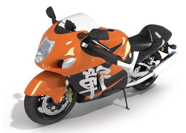 Motorbike 3d Model 014