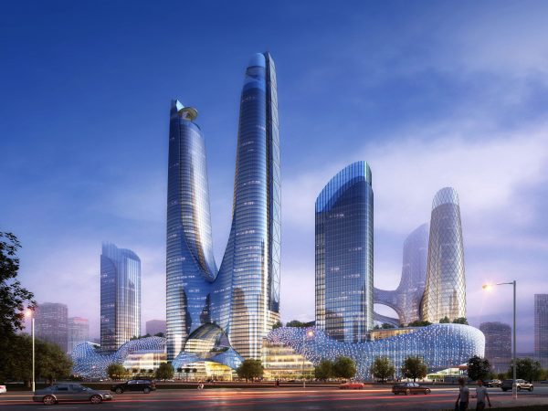 016-Exterior Scenes-High-Rise Buildings-Twin Towers
