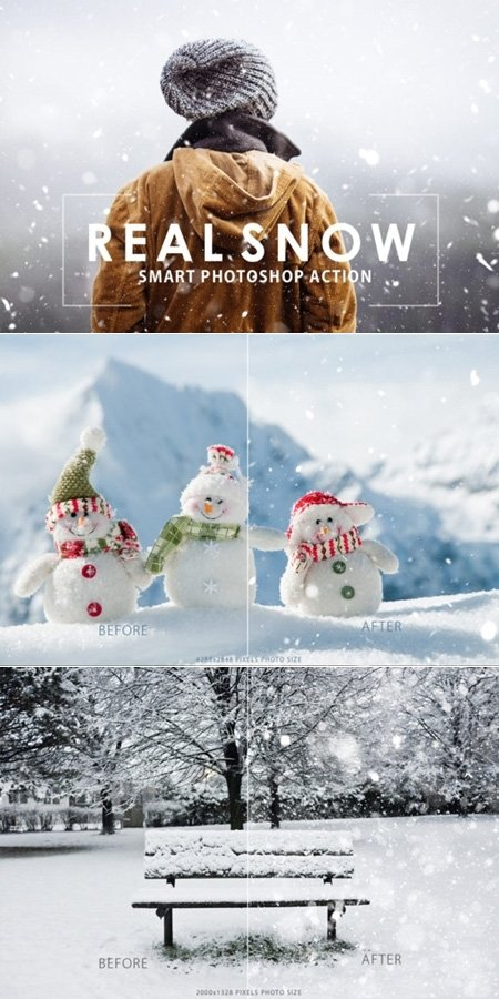 016-Real Snow Photoshop Action 1723501